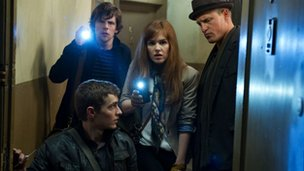 clockwise from left, Dave Franco, Jesse Eisenberg, Isla Fisher and Woody Harrelson