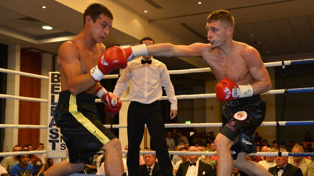 Ryan Burnett puts in an impressive display as he beats Slovakian opponent Elemir Rafael