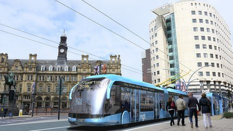 Proposed Leeds trolleybus