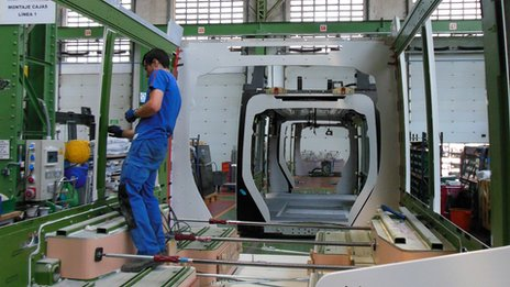 Midland Metro new tram being manufactured in Spain