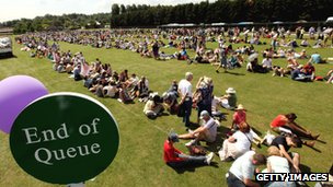 The Wimbledon queue