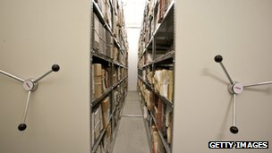 File photo of Stasi archives