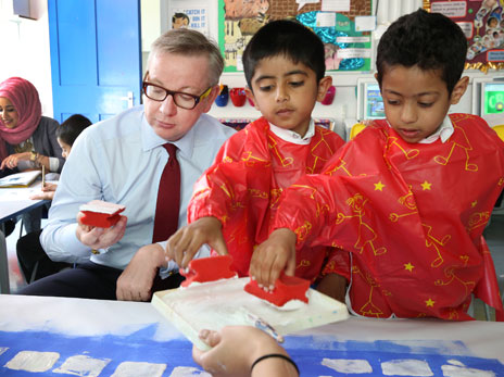 Michael Gove at school in London, 2013