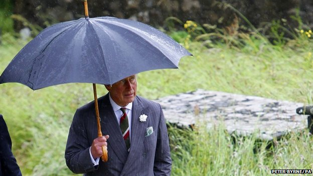 The Prince of Wales at St Beuno's Church in Pistyll, Pwllheli