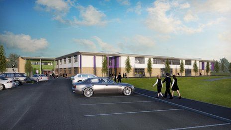 Artist's impression of the new college