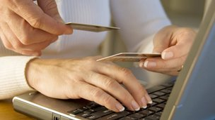 Online shopping with credit cards