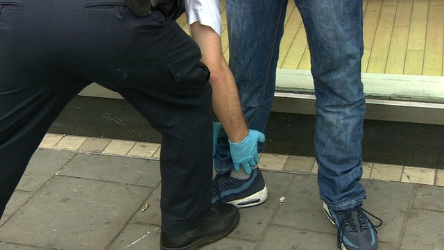 Police stop and search being carried out
