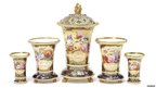 Spode beaded vases, circa 1817-19. Pic: Bonhams