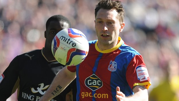 Stephen Dobbie in action for Crystal Palace last season while on loan from Brighton