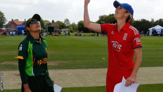 Pakistan captain Sana Mir and England skipper Charlotte Edwards