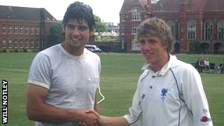 Alastair Cook and James Kettleborough
