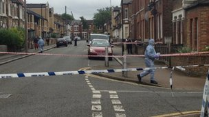 Crime scene at Strathleven Road. Brixton.