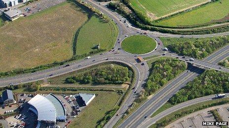 A47 Postwick interchange