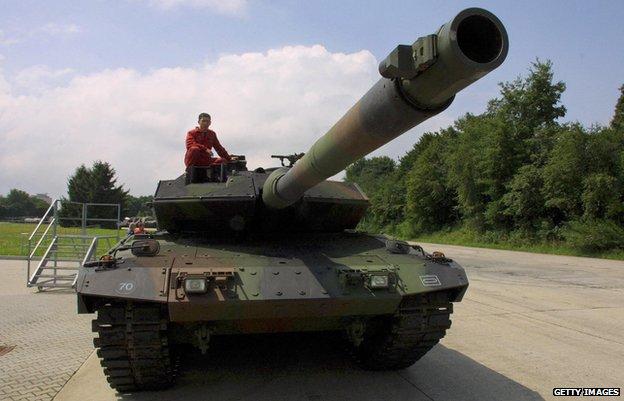 A German Leopard 2 tank