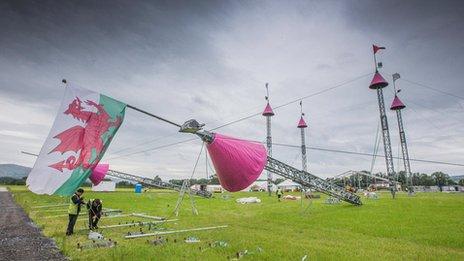 The National Eisteddfod's pavilion