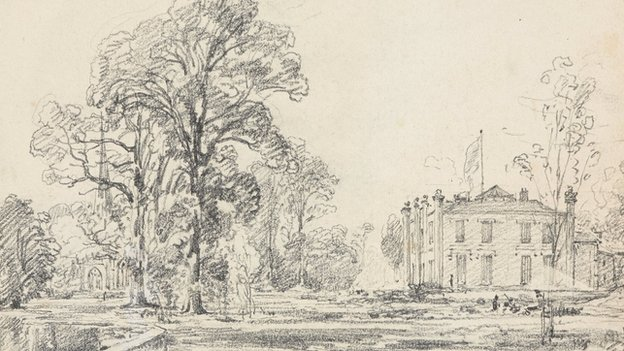 Coleorton Hall sketch by John Constable