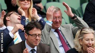 Sir Alex Ferguson reacts