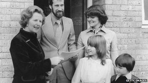 Margaret Thatcher and council house buying family