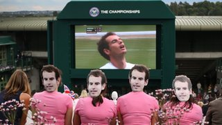 Andy Murray fans on Henman Hill