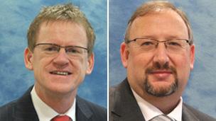 Chief executive Anthony O'Sullivan and his deputy Nigel Barnett