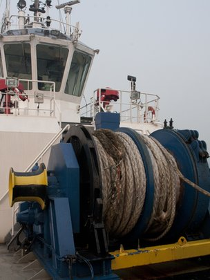 Tug boat rope on the Star Admiral