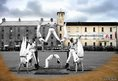 Acrobats entertain troops at Ebrington Barracks, now a key City of Culture venue.