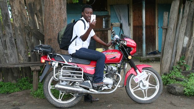Health worker on a motorcycle