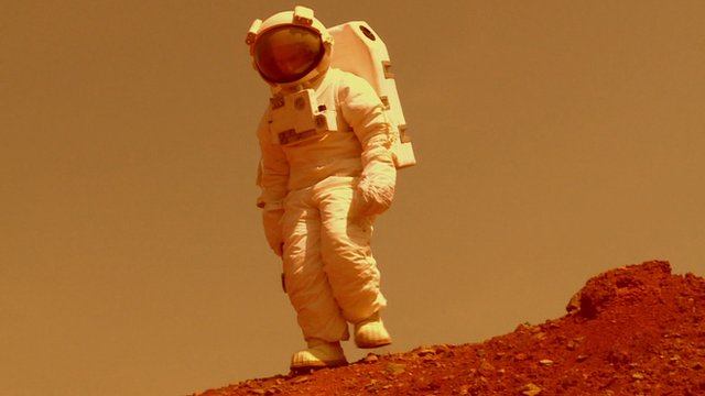 How an astronaut on Mars may appear