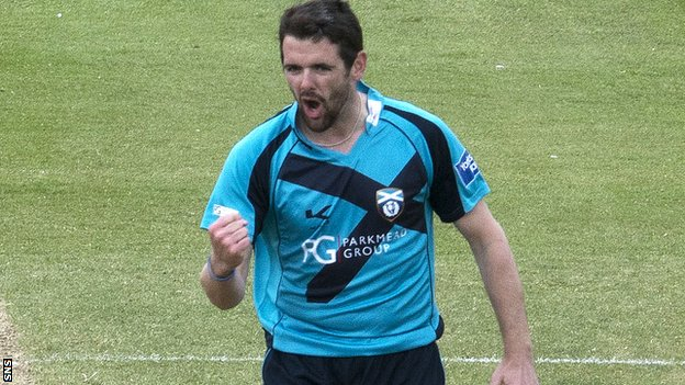 Scotland bowler Gordon Goudie took three wickets