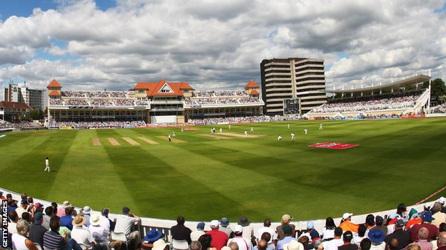 Trent Bridge, looking towards the Radcliffe Road End
