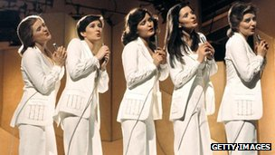 The Nolan sisters performing in the 1980s