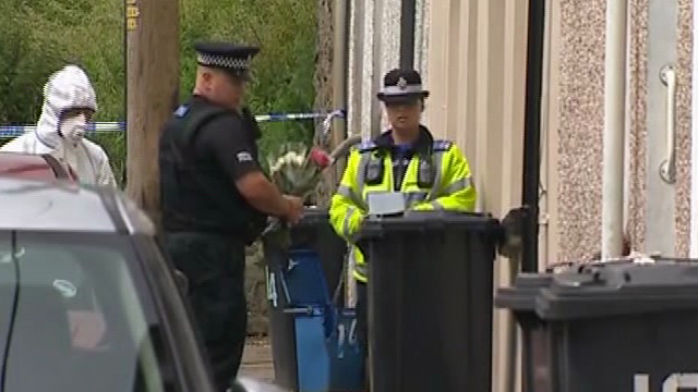 Flowers have been taken to the site