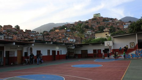 Basketball players in Petare