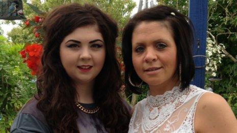 Silvia and Megan-Rose Thompson