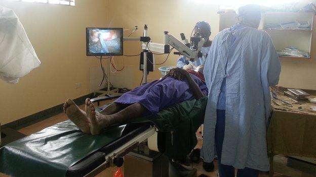 Eye surgeons at work