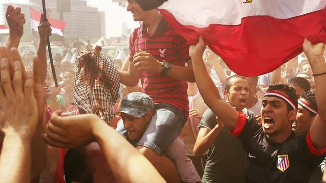 Anti-Morsi protesters celebrated in Tahrir Square