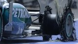 Lewis Hamilton tyre after explosion