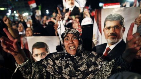 A rally in support of the ousted Egyptian president Mohammed Morsi