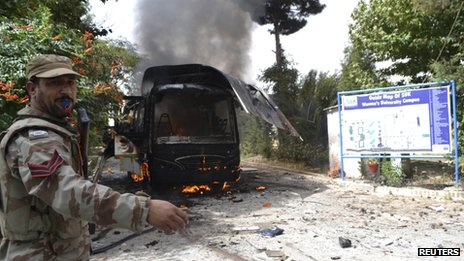 Student bus bombed in Quetta, June 2013