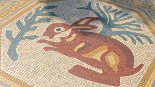 Replica hare mosaic