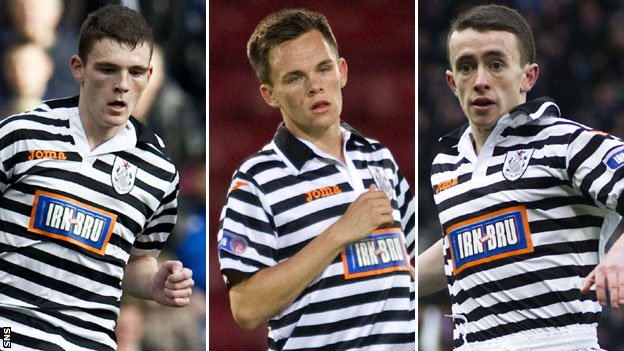 Andrew Robertson, Lawrence Shankland and Aidan Connelly