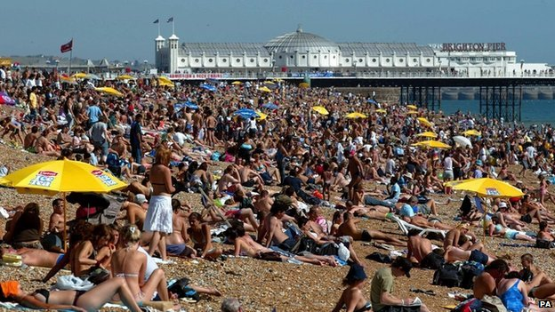 Brighton beach (Image: PA)