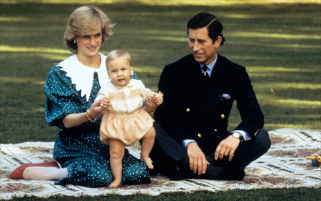 Charles and Diana with Prince William in Auckland
