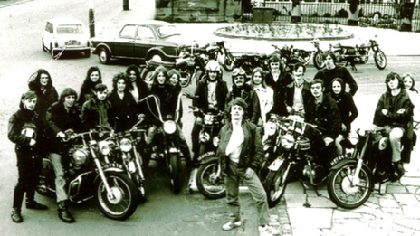 Bikers were regulars at the former Sam's Cafe