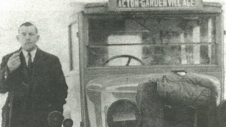 Bill Keeler ran a Garden Village bus during the Second World War