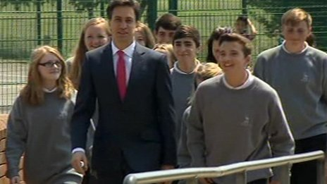 Ed Miliband at Blatchington Mill School