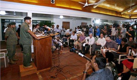 Fiji's military chief Cmdr Voreqe Bainimarama announces a successful military coup in 2006