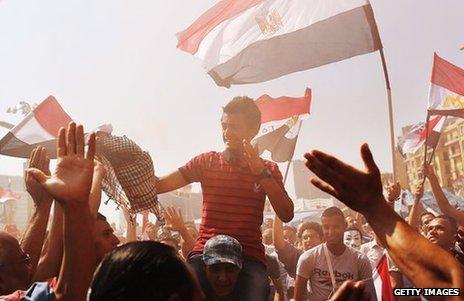 Egyptians have been celebrating the end of Mohammed Morsi's presidency