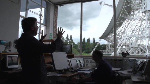 Inside Jodrell Bank Observatory