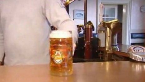 A pint of Wrexham Lager